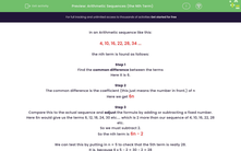 'Arithmetic Sequences (the Nth Term)' worksheet