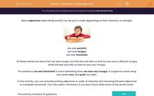 'Vocabulary: Using Adjectives' worksheet