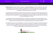 'Relative Motion' worksheet