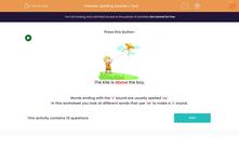 'Spelling Sounds v (ve)' worksheet