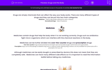 'Drugs and the Body' worksheet