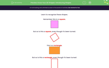 'Know Your 2D Shapes: Introducing Shapes' worksheet