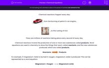 'Chemical Equations' worksheet