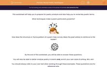 ' Revise Poetic Techniques' worksheet