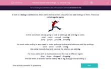'Revise Verb Endings: -s, -ed and -ing 1' worksheet
