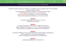 'Divisibility Rules: 2, 3, 4, 5, 6, 7, 8, 9 and 10 (3)' worksheet