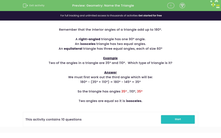 'Geometry: Name the Triangle' worksheet