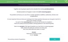 'Understand and Apply Problem Solving Skills 1' worksheet