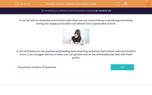 'Correct Common Punctuation Errors' worksheet