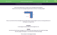 'Rectangle Problems' worksheet