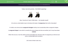 'Apply Congruence Rules ' worksheet