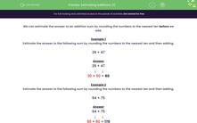 'Estimating Additions (1)' worksheet