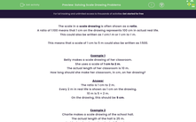 'Solving Scale Drawing Problems' worksheet