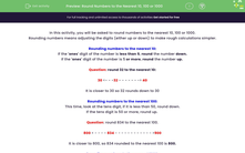 'Round Numbers to the Nearest 10, 100 or 1000' worksheet