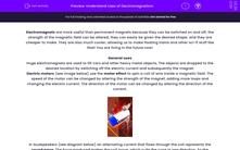 'Understand Uses of Electromagnetism' worksheet