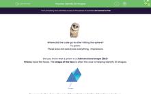 'Identify 3D Shapes' worksheet