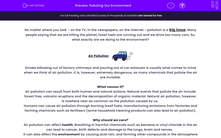 'Polluting Our Environment' worksheet