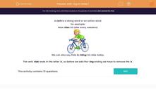 'Add -ing to Verbs 1' worksheet