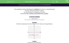 'Midpoints on a Grid' worksheet