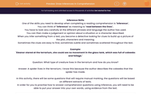 'Draw Inferences in Comprehension' worksheet