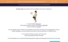 'Formal and Informal language: Use Question Tags' worksheet