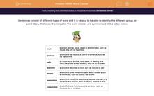 'Revise Word Classes' worksheet