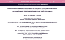 'Jumbled Sentences Practice 3' worksheet