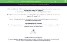'Find Mass, Density and Volume' worksheet