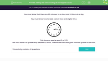 'Telling the Time: Analogue and Digital Clocks' worksheet