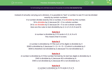 'Divisibility Rules (2)' worksheet