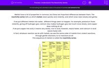'Understand The Reactivity Series' worksheet