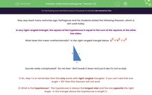 'Understand Pythagoras' Theorem (1)' worksheet