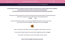 'Move a Letter Practice 1' worksheet
