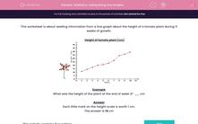 'Statistics: Interpreting Line Graphs' worksheet
