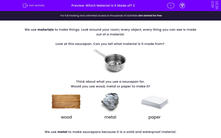 'Which Material is It Made of? 2' worksheet