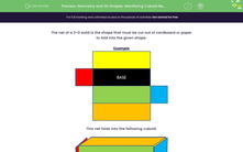 'Geometry and 3D Shapes: Identifying Cuboid Nets (2)' worksheet