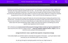 'Calculate Specific Heat Capacity' worksheet