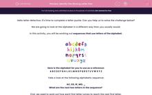 'Identify the Missing Letter Pair' worksheet