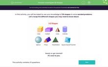 'Investigate 3D Shapes' worksheet