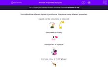 'Properties of Liquids' worksheet
