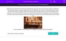 'Properties of Materials' worksheet