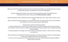 'Practise Retrieval Questions' worksheet
