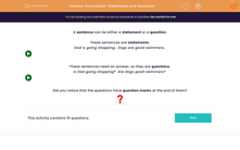 'Punctuation: Statements and Questions' worksheet