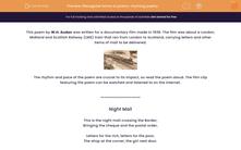 'Recognise forms of poetry-rhyming poetry' worksheet