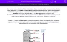 'Understand Fractional Distillation' worksheet