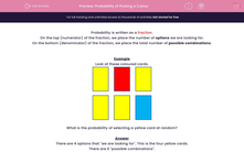 'Probability of Picking a Colour' worksheet
