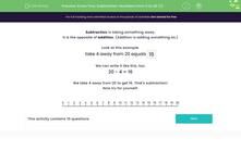 'Know Your Subtraction: Numbers from 0 to 20 (1)' worksheet
