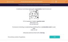 'Revise Basic Sentence Punctuation' worksheet