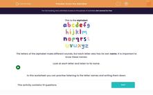 'Know the Alphabet' worksheet