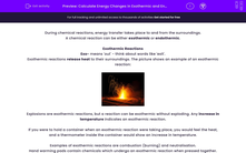 'Calculate Energy Changes in Exothermic and Endothermic Reactions' worksheet